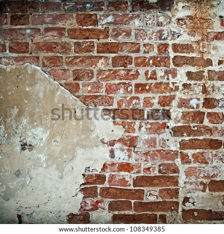 Stock Photo: Background of brick wall texture. Old brick wall as background - stock photo