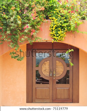 Stock Photo: beautiful vintage door, Italy - stock photo