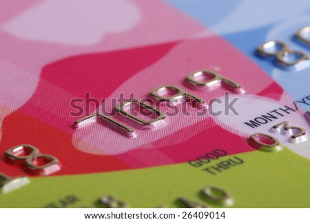 stock photo :closeup of credit card - stock photo