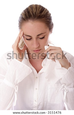 Stock photo of a beautiful sad woman