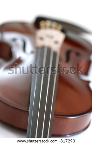 Stock Photo of Isolated Violin - stock photo