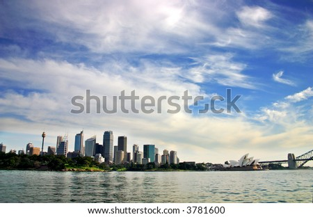 Stock photo of Sydney's skyline at Cicular Quay, Sydney