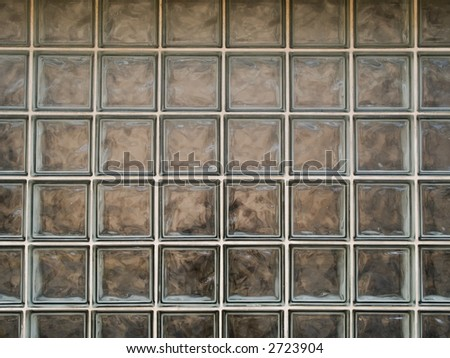 Stock photo of the texture of dirty glass blocks.