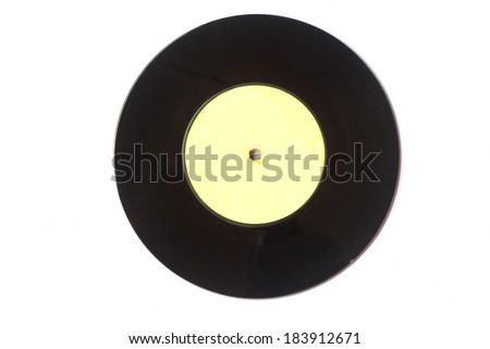 Stock Photo - Vinyl record vintage analog music recording medium - stock photo