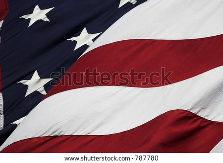 Stock photograph of U S flag - stock photo
