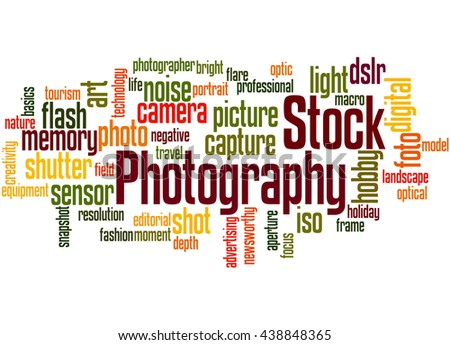 Stock Photography, word cloud concept on white background. - stock photo