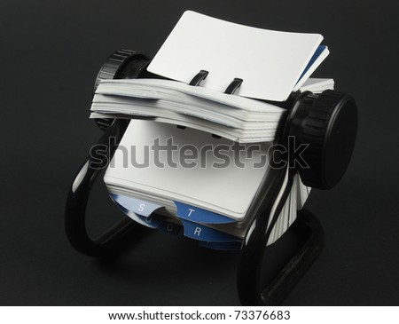 Stock pictures of a rodolex tool for business on black background - stock photo