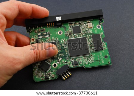 Stock pictures of an electronic board from a consumer product - stock photo