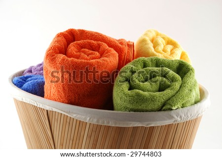 Stock pictures of bath towels and wash clothes