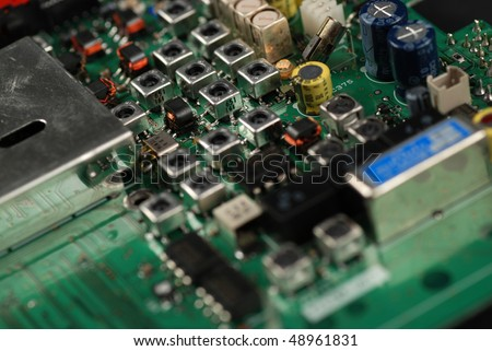 stock pictures of electronic components and boards