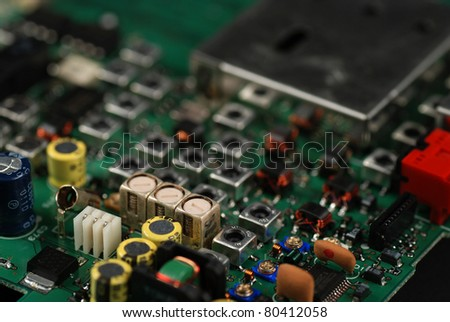 stock pictures of electronic components and boards - stock photo