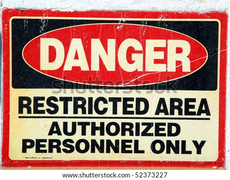 stock pictures of plaques with warnings and prohibitions