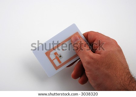Stock pictures of several types of rfid tags and transponders - stock photo