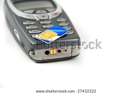 stock pictures of the components for a typical cell phone - stock photo