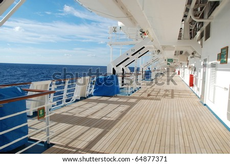 stock pictures of the deck on a cruise ship