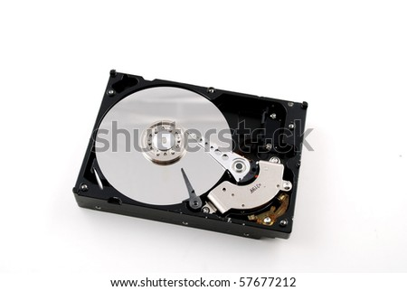 Stock pictures of the interior of a compute hard drive