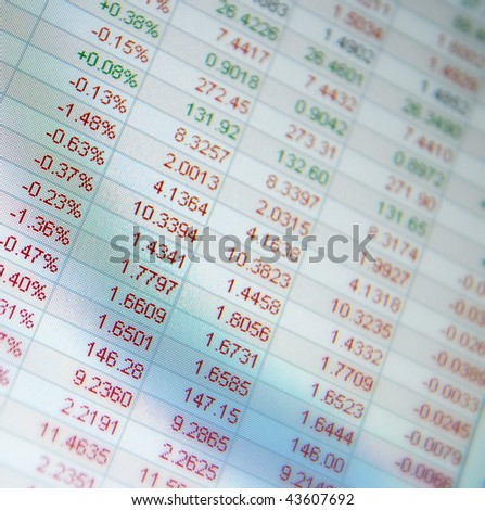 Stock quotes, no real time quotes at the stock market - stock photo