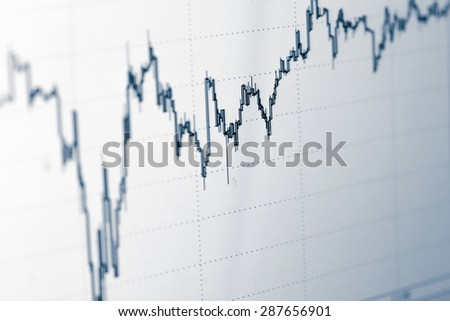 Stock trade live. Online forex data. selected focus - stock photo