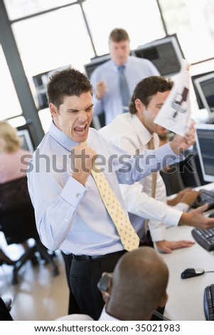 Stock Trader Happy With His Success - stock photo