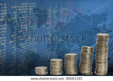 stock trades. - stock photo