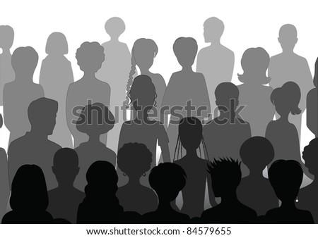 Stock Vector Illustration:  Audience - stock photo
