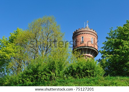 Stockfoto: An old watertower in the Netherlands during springtime - stock photo
