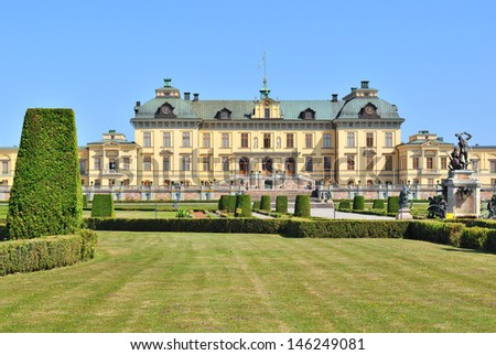 Stockholm. Architecture and  formal garden of  Drottningholm