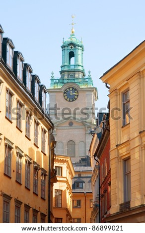 Stockholm Cathedral (Storkyrkan) in the Old Town. Sweden