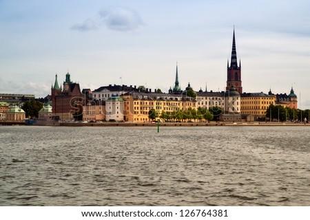 Stockholm city view - stock photo