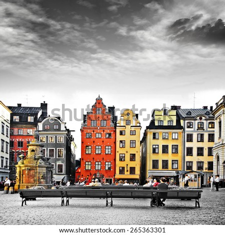 Stockholm, heart of old town, - stock photo
