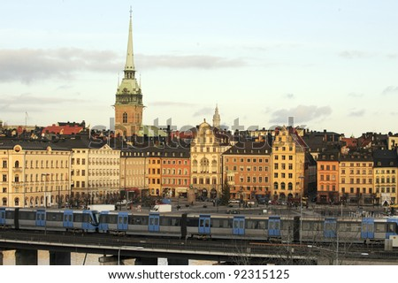Stockholm Old Town - stock photo
