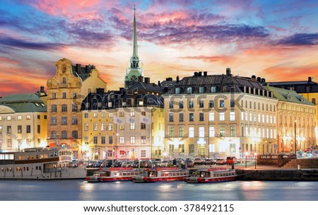Stockholm, Sweden - stock photo