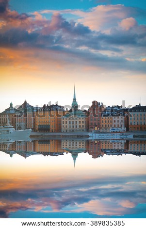 Stockholm, Sweden cityscape from the port. - stock photo