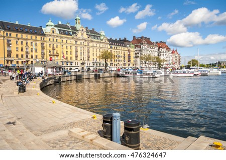 stockholm sweden june 8 2015 seaside stock photo edit now