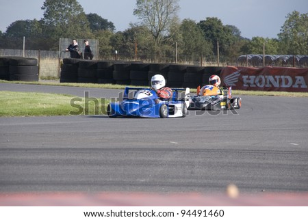 STOKE, ENGLAND - SEPTEMBER 18: Final Round of the British Super Karts Season on September 18th, 2011 in Stoke, England, UK.  Darley Moor is host to the season finale event