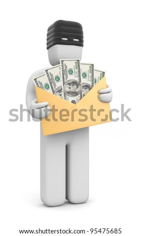 Stolen money. Image contain clipping path - stock photo