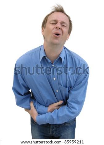 Stomach ache - stock photo
