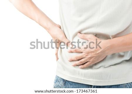 Stomach or diarrhea men - stock photo