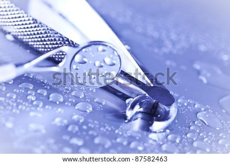 stomatology equipment - stock photo