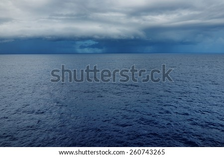 Stomy clouds over the ocean