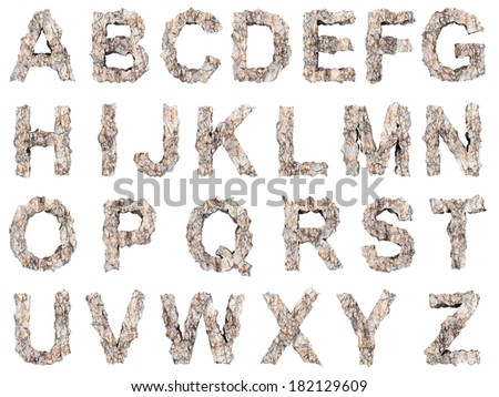 Stone alphabet - stock photo