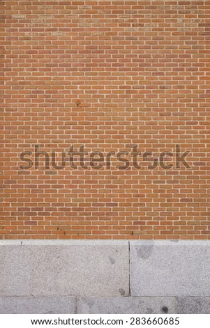 stone and red bricks wall