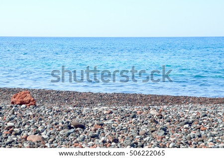 stone and sea background