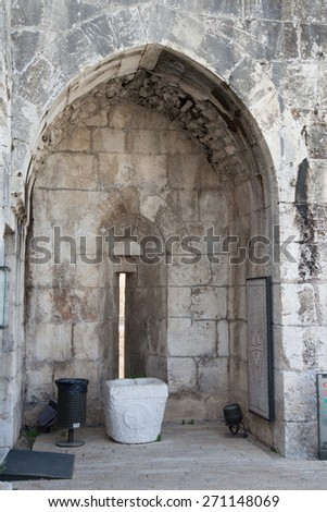Stone arch for a background - stock photo