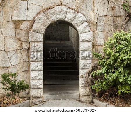 entrance secret gateway another world stock photo 59012320 shutterstock. Black Bedroom Furniture Sets. Home Design Ideas