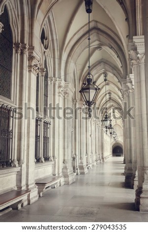 Stone archway - stock photo