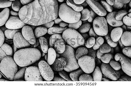 Stone background in black and white - stock photo