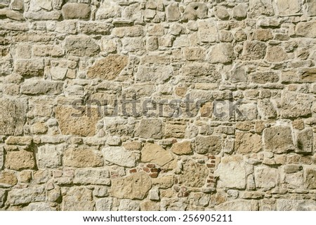 Stone Background Of Medieval Wall - stock photo