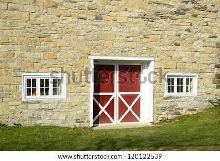 stone barn - stock photo