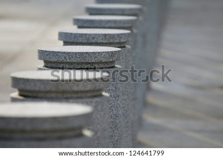 Stone Barricade - stock photo